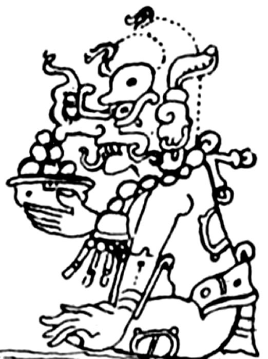 Mayan Gods Coloring Pages