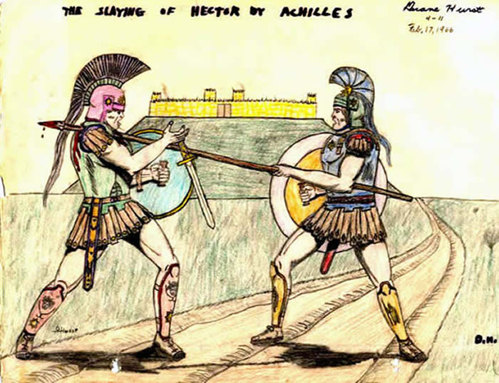 hector and achilles Free term papers & essays - achilles vs hector, mythology.